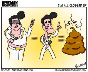 5 14 10 Bearman Cartoon Elvis Cause of Death