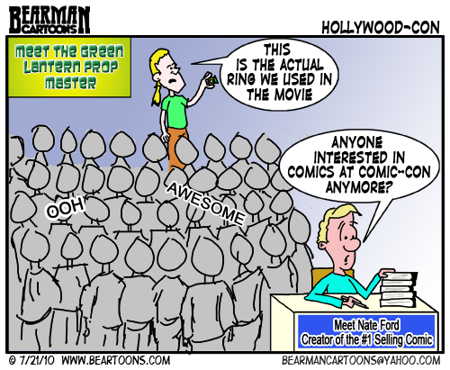 Bearman Cartoon How Hollywood took over Comic-Con