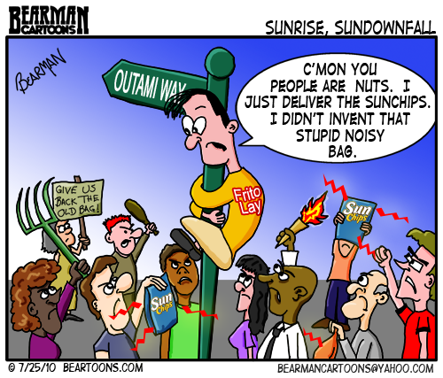Noisy SunChips Bag Cartoon