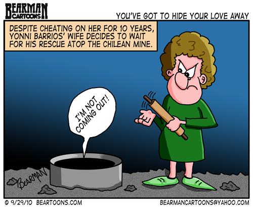 Editorial Cartoon: Yonni Barrios - Wife and Mistress - Bearman Cartoons