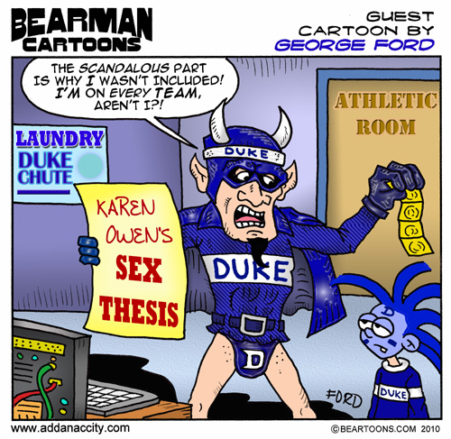 http://beartoons.com/wp-content/uploads/2010/10/Bearman-Duke-Univ-guest-comic-by-George-Ford-500-pixels.jpg