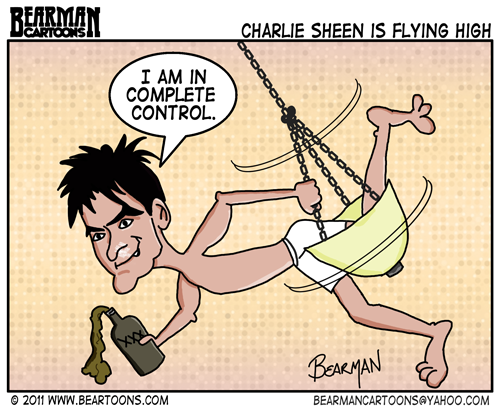 Editorial Cartoon: Charlie Sheen