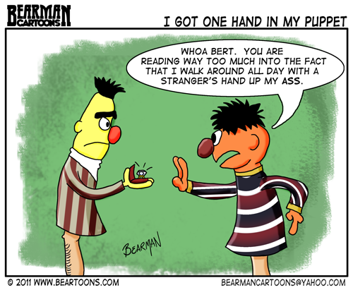 Editorial Cartoon Ernie and Bert Gay Sesame Street