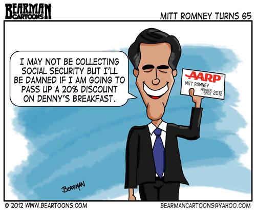 Editorial Cartoon: Mitt Romney Turns 65