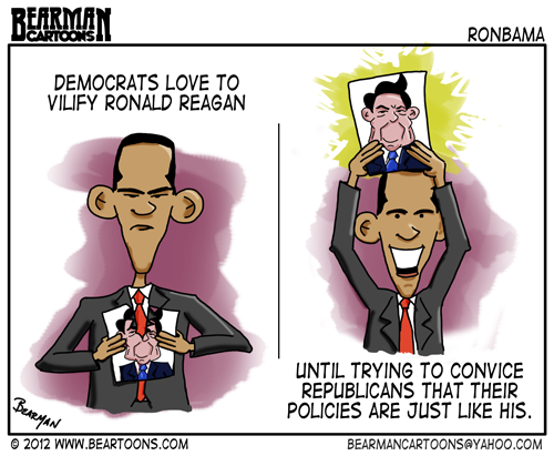 Editorial Cartoon: Obama and Reagan on Taxing the Rich