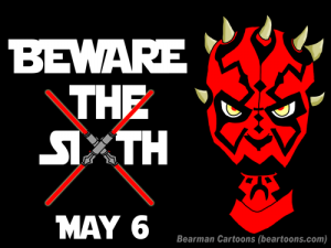Star-Wars-Beware the Sith-of-May-Bearman Cartoons