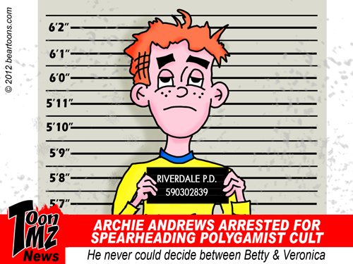Archie Andrews Arrested for Polygamy Cartoon