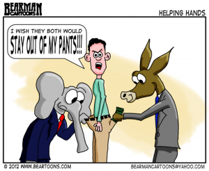 6-17-12-Bearman-Cartoon-Republican Democrats in my Pants