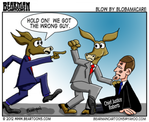 7-112-Bearman-Cartoon-Justice Roberts and Democrats