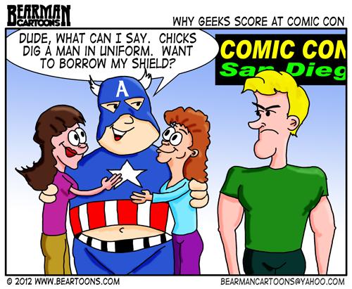 Editorial Cartoons: Cartoon Comic Convention Geeks and Girls