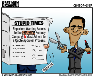 7-19-12-Bearman-Cartoon-Obama and Romney Censor Reporters