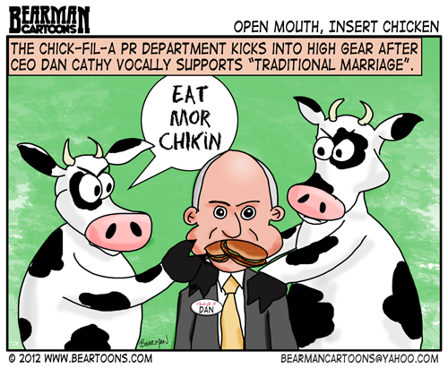 Editorial Cartoon Chick Fil A Gay Marriage