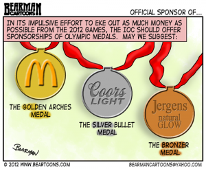 7-30-12-Bearman-Editorial-Cartoon Olympic Sponsorships
