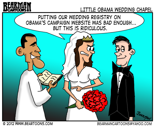 Editorial Cartoon: Obama's Wedding Chapel