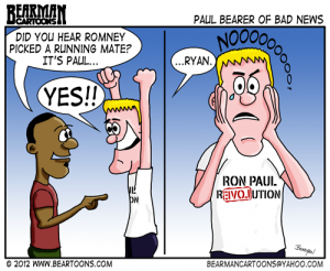 8 13 12 Bearman Editorial Cartoon Mitt Romney Wrong Paul Running Mate
