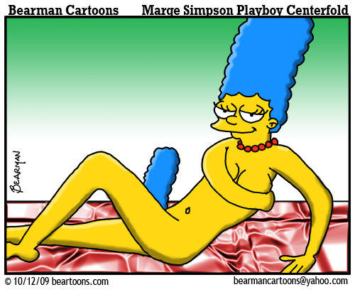 Marge Simpson appears in Playboy Magazine