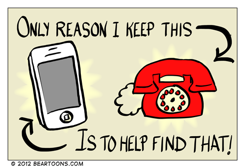 Bearman Cartoon Why I Keep A Home Phone Line Bearman Cartoons