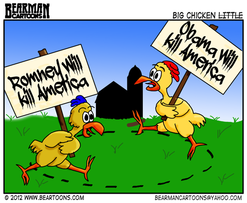 10-31-12-Bearman-Cartoon-Obama Romney Chicken Little