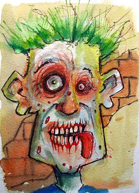 Byron Rempel Zombie Bearman Cartoons