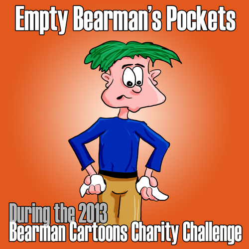 Empty Bearman's Pockets in the 2013 Bearman Cartoons Charity Challenge