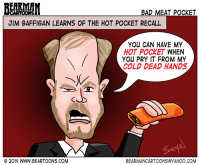 2 18 14 Bearman Cartoons Jim Gaffigan Responds to Hot Pocket Recall