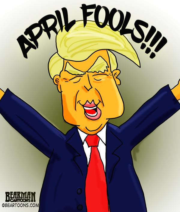 Happy Donald Trump Cartoon - Bearman Cartoons